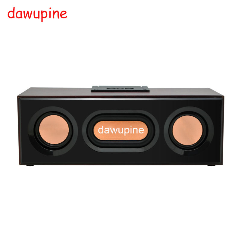dawupine Wood Bluetooth Speaker Sound FM Radio MP3 Player USB TF Card Slot For Mobile Phone Desktop Mini Outdoor Subwoofers getihu portable mini bluetooth speakers wireless hands free led speaker tf usb fm sound music for iphone x samsung mobile phone
