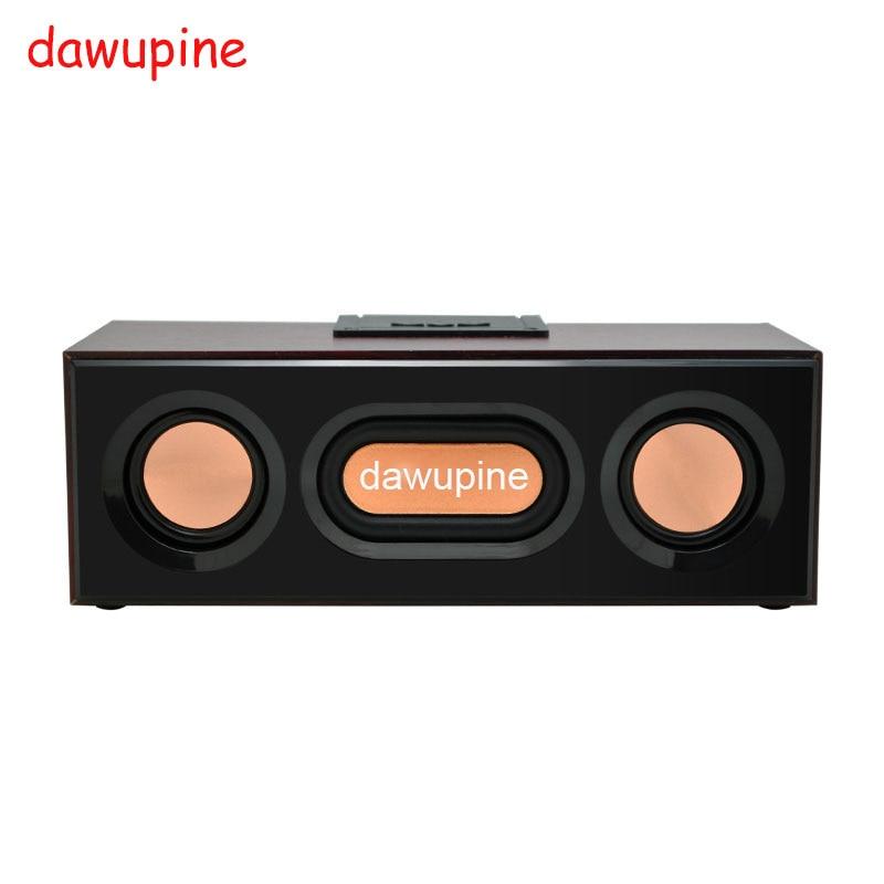 dawupine Wood Bluetooth Speaker Sound FM Radio MP3 Player USB TF Card Slot For Mobile Phone Desktop Mini Outdoor Subwoofers