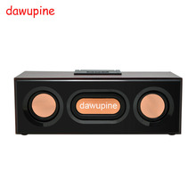 dawupine Wood Bluetooth Speaker Sound FM Radio MP3 Player USB TF Card Slot For Mobile Phone Desktop Mini Outdoor Subwoofers