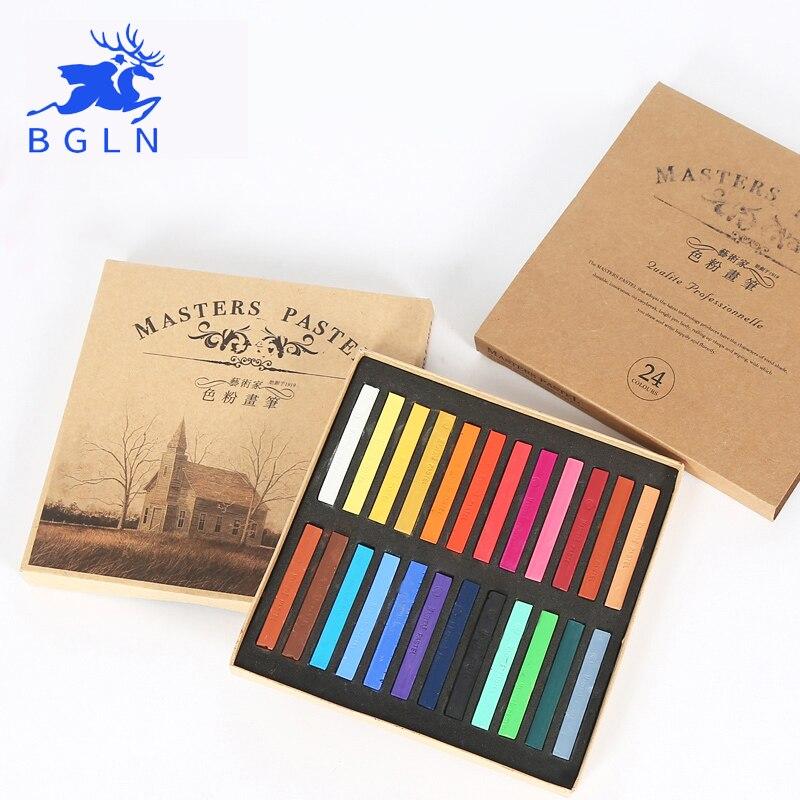 Marie pintura lápices de colores Pastel suave y seco 12/24/36/48 colores/conjunto de dibujo del arte conjunto color lápiz cepillo Papelería para los estudiantes