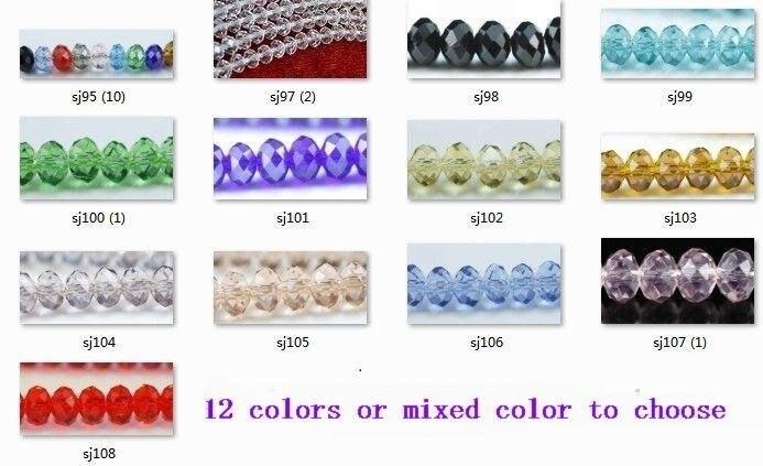 OMH оптовая продажа 200 шт 13 цветов или смешанный красный цвет на выбор 6 мм круглые стеклянные хрустальные бусины рондели разделительные буси...