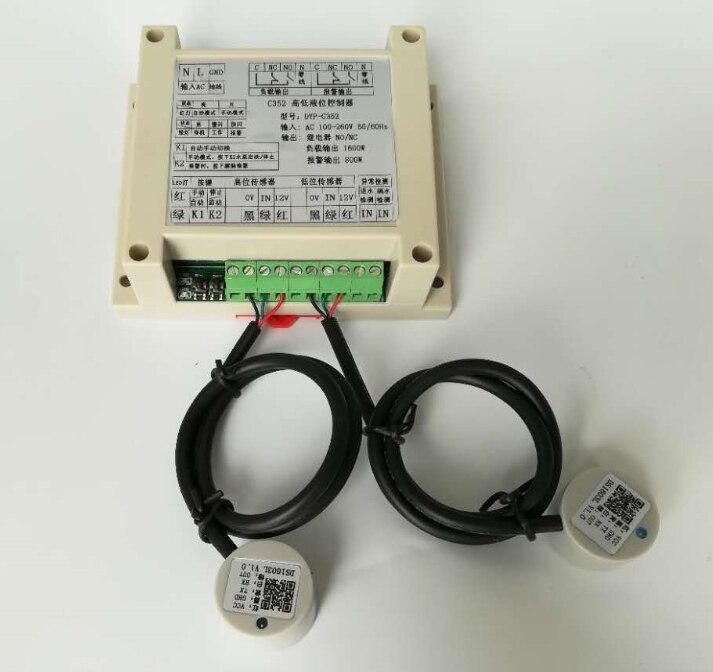 Alarme de contrôle de commutateur de haut et bas niveau sans contact, capteur externe, capteur de niveau de liquide à ultrasons