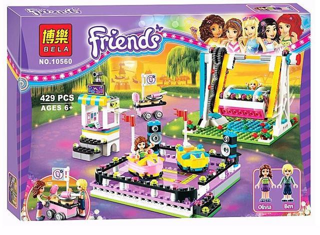 Bela 10560 elfos princesa amigos del parque de atracciones parachoques cars building blocks classic de cabritos de la muchacha juguetes marvel lepin