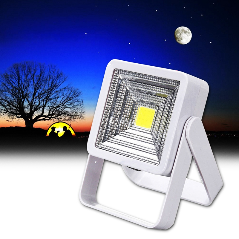 Portable Solar Powered LED USB Rechargeable Bulb Light 1000mah Yard Outdoor Camping Lamp White 2W COB Solar LED Flood Light usb powered 18 led white light flexible desktop lamp w adapter white silver