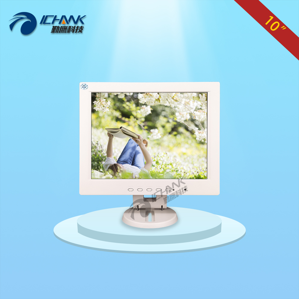 CB100JN-TV1W/10 inch 800x600 HD Pure White Built-in Speaker HDMI VGA POS Machine Monitor RF Antenna Satellite Closed-Circuit TV nice white pos system 15 inch touch screen billing machine all in one pos restaurant cash register with free shipping
