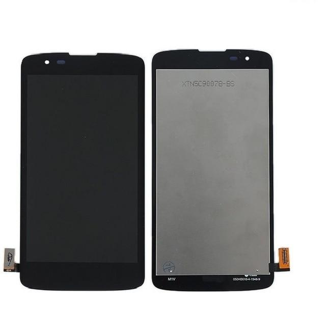 Полный Новый ЖК-дисплей с Сенсорным экраном дигитайзер ассамблеи Для LG K8 K350N K350E бесплатная доставка