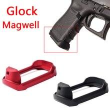 Chiến thuật Nhôm CNC Glock Mag cũng Magwell Grip Adater Cơ Sở Pad cho Săn Bắn Airsoft Glock 19 23 32 38 gen 3/4