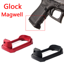 Tactical Aluminum CNC Glock Mag  well Magwell Grip Adater Base Pad for Hunting Airsoft Glock 19 23 32 38 Gen 3/4