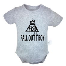 Fall Out Boy FOB 6-24M Newborn Baby Girl Boys Short Sleeve Romper Jumpsuit