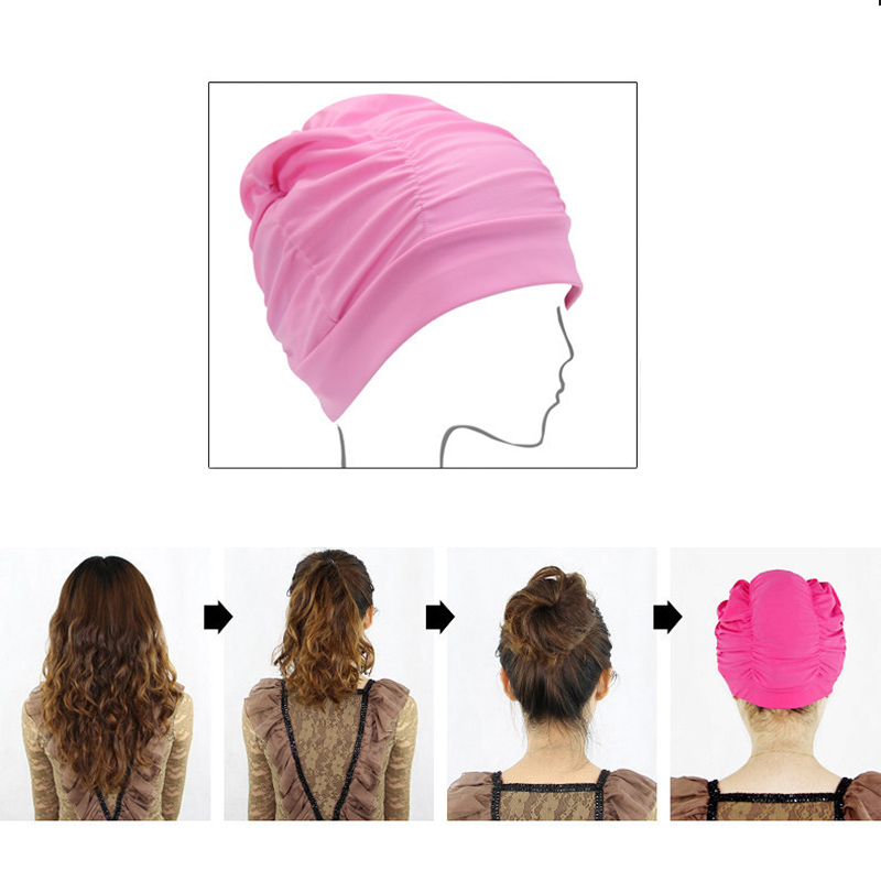 Ultrathin Protect Ears Long Hair Stretch Elastic Swim Pool Women Swimming Cap Nylon Hat Free Size For Ladies Female Bathing Cap fashion summer pink white women baseball cap with letter hat cap snapback sport female peaked cap hip hop