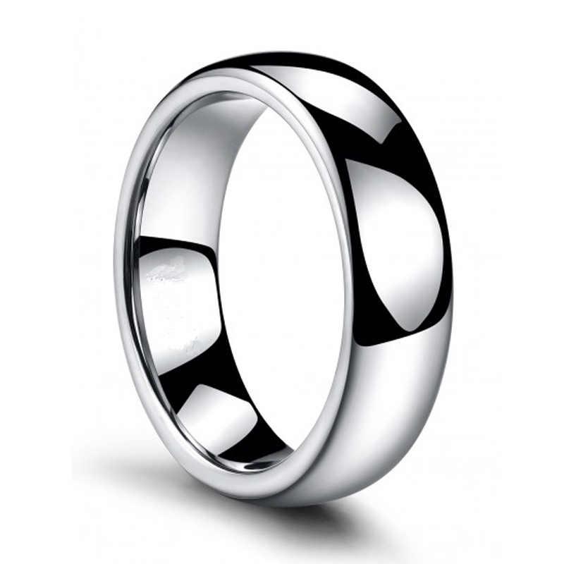 Men 2MM Tungsten Carbide Wedding Band High Polish Black Enamel Plated Ring