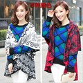 Free Shipping Hot Sale Ethnic Women's Cashmere Pashmina Thicken Circular Type Poncho Coat Shawl Scarf  Wrap