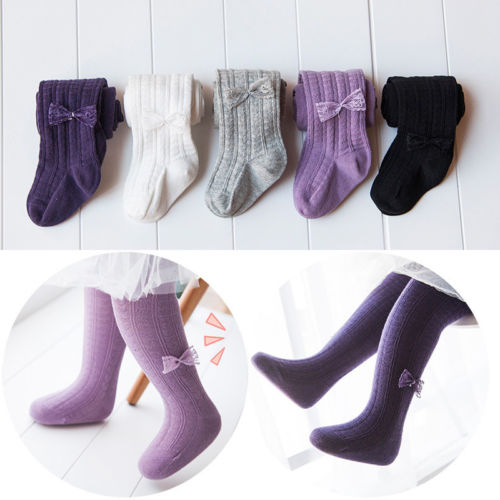 1bfaa775570 Hot Baby Girl Toddler Kid Cotton Long Thermal Hosiery Warm Tights Stocking  Solid Pantyhose Stockings 0-6Y