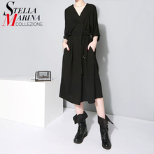 European Fashion 2017 Summer Women Office Dress Natural V Neck Half Sleeve Elegant Ladies Casual Chiffon Dresses Robe Femme 1347