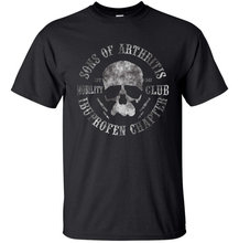Sons of артрит Футболка Мужская Байкер Мотоцикл Летние смешной подарок Повседневная футболка с принтом нам большие Размеры S-3XL