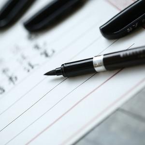 Image 2 - 30 cái/lốc trung quốc thư pháp bàn chải bút Nhật Bản chất liệu Vẽ nguồn cung cấp nghệ thuật Văn Phòng Phẩm trường học cung cấp papelaria caligrafia F867