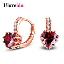 4c071bd3c6 Popular Red Crystal Heart Earrings-Buy Cheap Red Crystal Heart ...