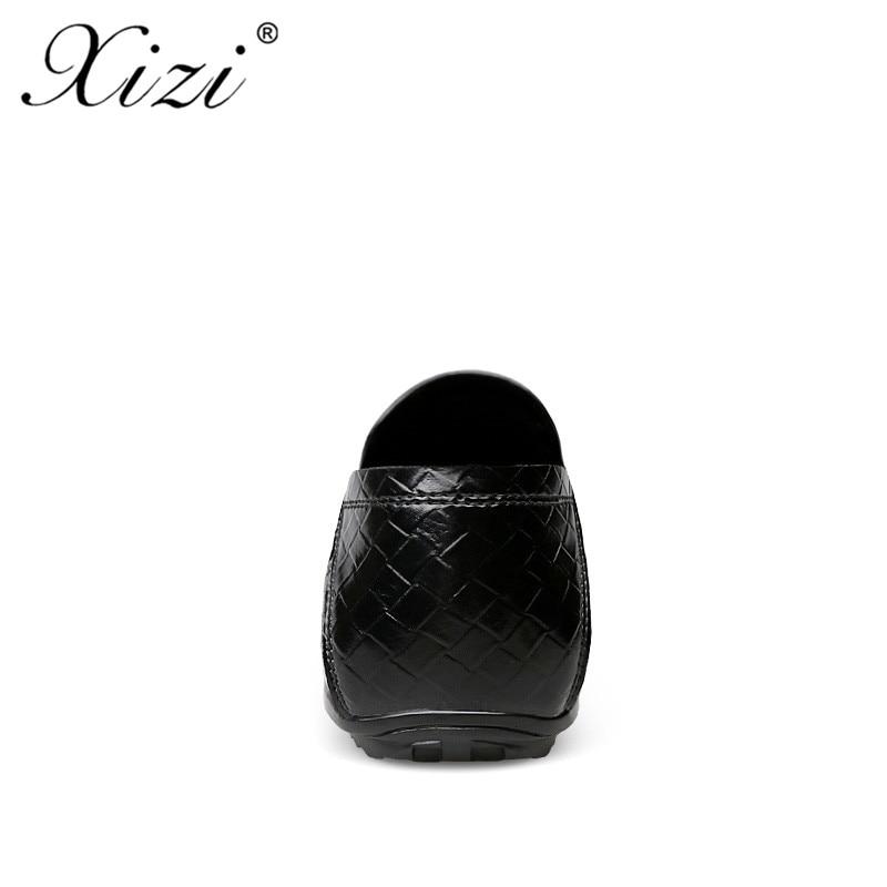 Zanoti Vestido Split Oxford Cuero Casual marrón Negro Lujo Para Zapato Casusl Zapatos Xizi Marca Formales Planos azul Hombres De Rp8cFS6O
