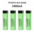 4PCS New Original NCR18650B 3400mAh 18650 power bank battery 3.7V Li-ion Rechargeable battery for panasonic + Free Shopping