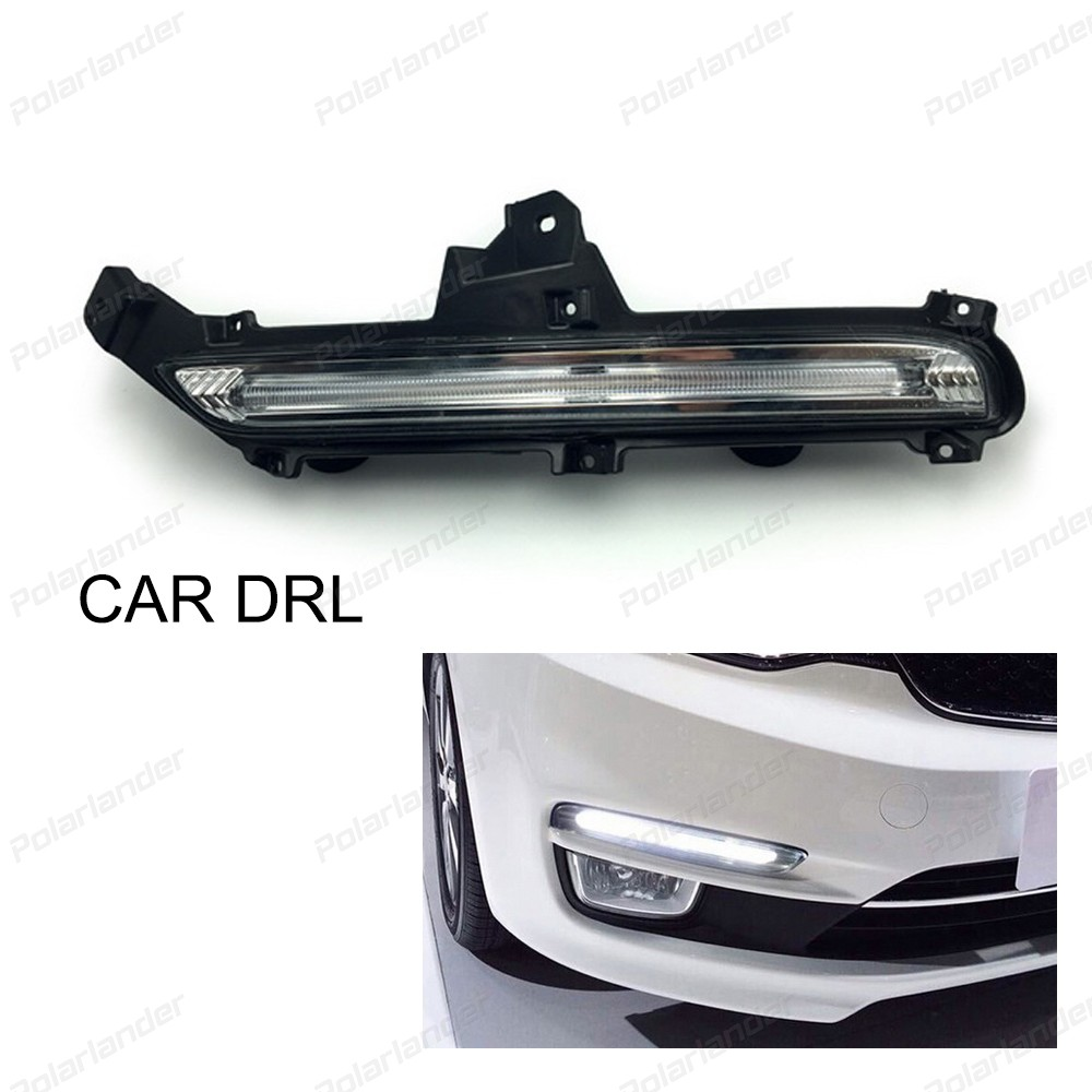 Car styling for K/ia K2 And for K/ia R/IO 2014-2015 daytime running lights 2017 new arrival auto parts hot selling 2 pcs car accessory daytime running lights car styling for k ia k 2 r io 2011 2013
