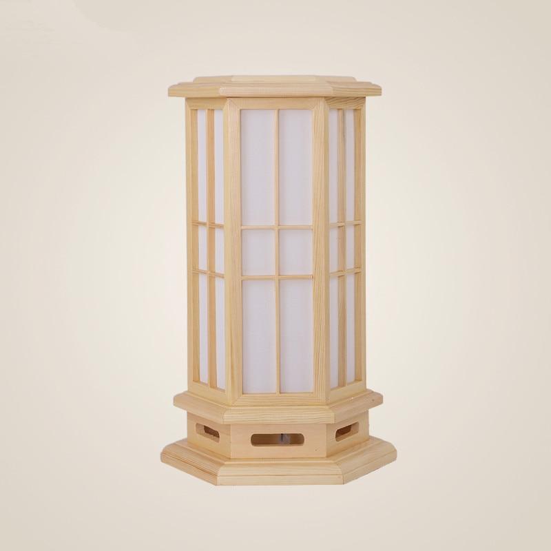Modern Japanese Wood Table Lamp Nightlight Home Decorative Design Tatami Bedroom Desk Lantern E27 Small Bedside Study Desk Lamp bedroom bedside creative fashion minimalist table lamp modern home decorative desk lamp