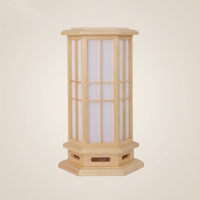 Modern Japanese Wood Table Lamp Nightlight Home Decorative Design