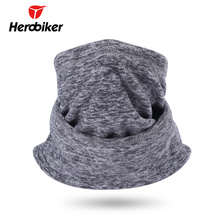 HEROBIKER Motorcycle Face Mask Moto Thermal Fleece Mask Scarf Headband Neckerchief Autumn Winter Cold-proof Cycling Skiing Mask