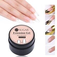 UR SUGAR 15ml Quick Building UV Gel Polish Finger Extension White Pink Soak Off LED Nail Art Builder Tips Extend