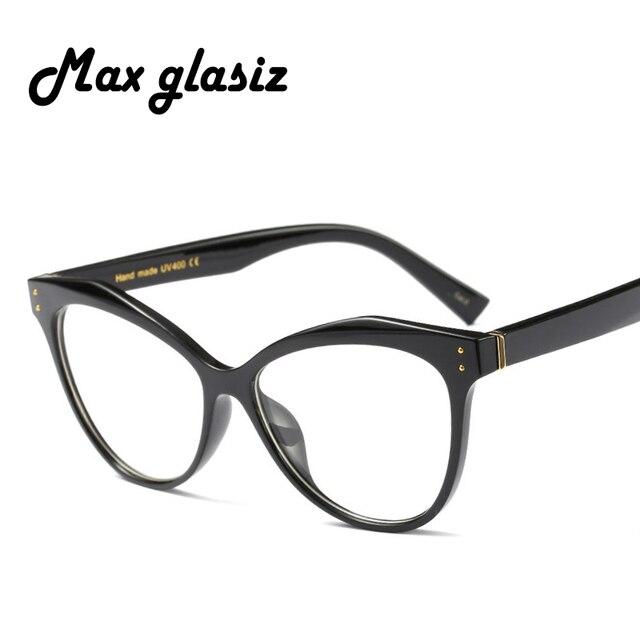 7a40b7a847 Fashion Women Glasses Cat Eye Frame Men Eyeglasses Frame Vintage Clear Lens  Optical Spectacle Frame Glass