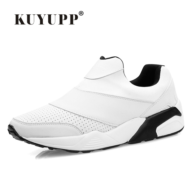 Sport Men Casual Shoes 2016 Fashion PU Leather Flat Leisure Men's Shoes Summer Breathable Low Top Shoes Slip On Trainers YD78