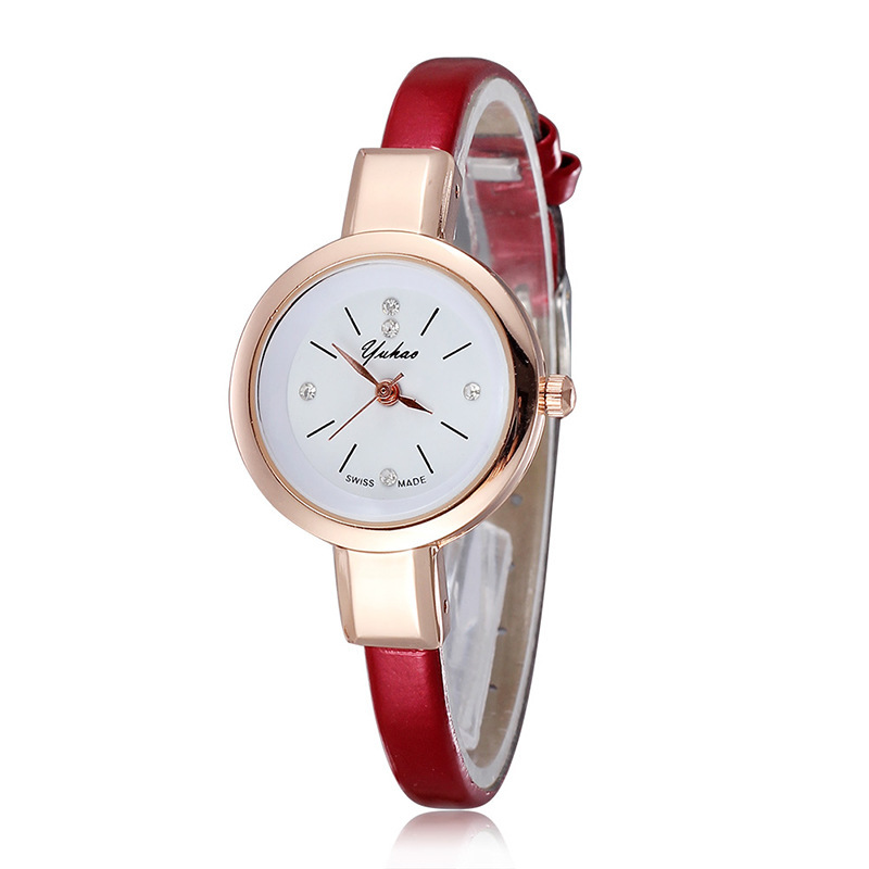 Trend Women Watch Ultra Thin Band Wrist Watch Rhinestone Quartz Wristwatches Girl Clock Erkek Kol Saati