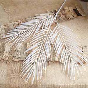 Image 3 - 70cm Palm leaf coconut leaf Artificial plants fake flower wedding party Christmas home decoration DIY