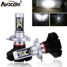 Avacom 2 pezzi HS1 H4 Moto Faro Lampade H1 H3 H7 H11 12 v 6500 k Bianco 12000Lm Moto Faro per Kawasaki/Suzuki