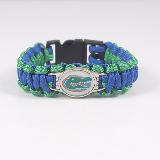 Outdoor Camping Paracord 550 Survival Bracelet Georgia Bulldogs Emergency Men Women Umbrella Braided Charms