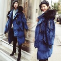 2016 Mulheres Mais Recente Marca De Luxo Inverno Gola de Pele De Guaxinim Real Relvet encapuzados Pato Branco Para Baixo Casaco Oversize Longo Jaqueta Parka casaco