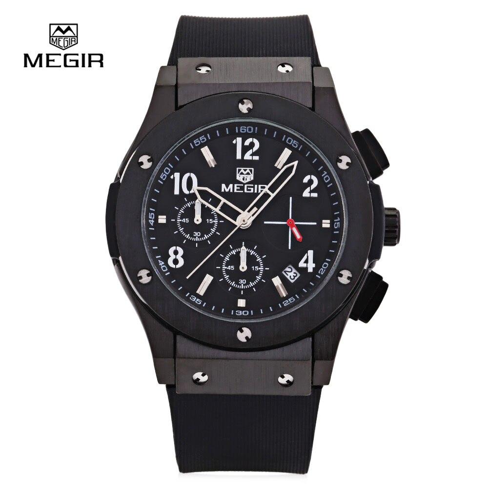 Relojes hombre 2017 new fashion military stylish MEGIR brand mens army calendar rubber men male clock sport luxury watch militar чай пуэр чёрный 100 г