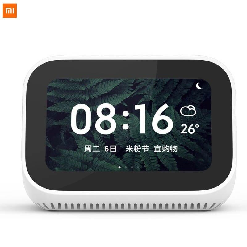 In Voorraad Nieuwe Xiao mi ai TOUCH Screen Bluetooth 5.0 speaker Digitale Display Wekker Wifi Slimme Aansluiting Luidspreker mi speaker-in slimme afstandsbediening van Consumentenelektronica op  Groep 1