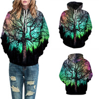 Women Casual Daily Sport Polyester Autumn Winter 3D Printing Long Sleeve Caps Sweatshirt Top Drop Shipping