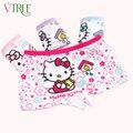 V-TREE 2-10Y Olá kitty calcinhas para meninas da menina do algodão roupa interior dos desenhos animados calcinhas cuecas para as meninas crianças roupa interior do bebê da menina