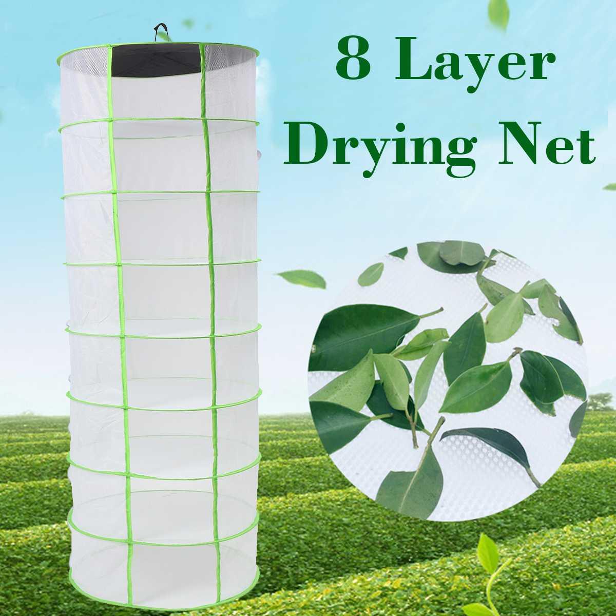 Herb Drying Rack Net 3 Layer Herb Dryer Mesh Hanging Dryer Racks With Zipper