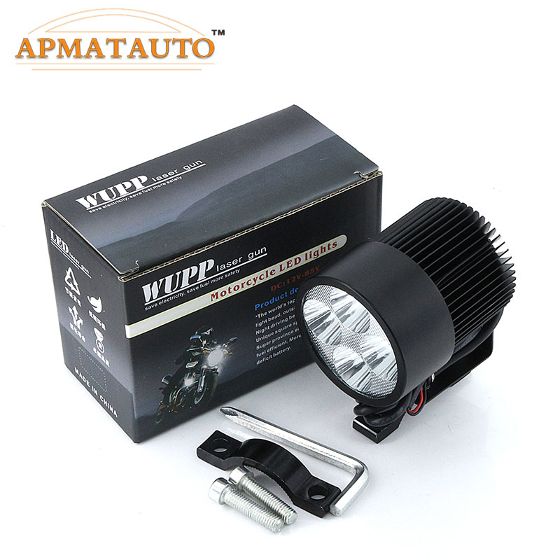 2X HeadLamp E-bike Electric Bike Car Motorcycle Bulb 12V 24V 36V 48V 80V 6000K White 20W 1800LM LED Spot Light Headlight Moto 20w 2000lm 6000k cob led white light module silver yellow 32 36v