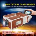 Cartón Smartphone Mini proyector para el Iphone teléfono celular móvil móvil Portable Beamer película cine Projektor Projeksiyon