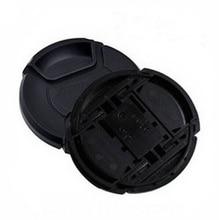 Toptan 30 adet/grup 49 52 55 58 62 67 72 77 82 86mm merkezi pinch Snap on kapatma başlığı logo canon nikon kamera Lens