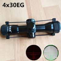New riflescope Hunting Tactical 4x30 M7 Rifle Telescopic + Red Laser Sight+ Mount For Optics Tactical Telescopic Sight outing