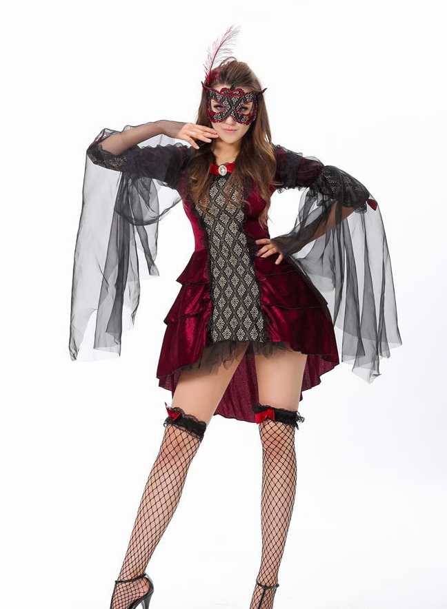 Hot Sexy Women Halloween costume masquerade mask party queen dress cosplay V&ire Queen fitted halloween costumes for women on Aliexpress.com | Alibaba ...  sc 1 st  AliExpress.com & Hot Sexy Women Halloween costume masquerade mask party queen dress ...