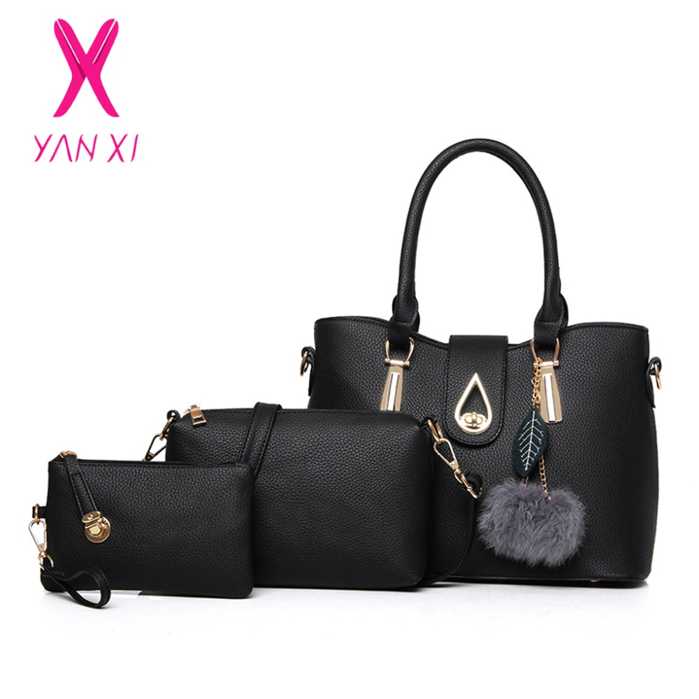 YANXI New Style High Quality PU Fashion Casual Lady Shoulder Messenger Composite Tote Famous Designer Crossbody Bags For Women new style fashion famous brand lady handbags with high quality casual women messenger bags high capacity shopping shoulder bag