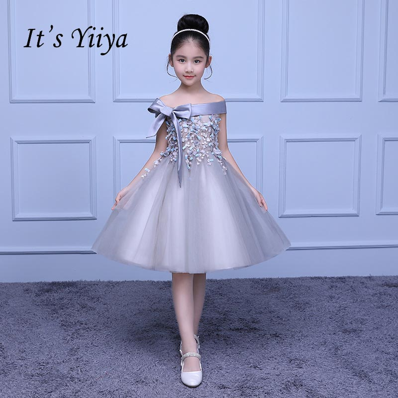 It's yiiya Bow Kid Clothing   Flower     Girl     Dress   Normal For Party Wedding   Girls     Dress   Lace Up Appliques Ball Gown Kids   Dresses   S145