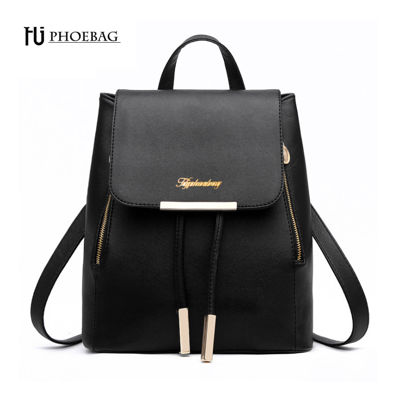 HJPHOEBAG Women Backpack High Quality PU leather School Bags For Teenagers Girl Top handle Backpacks mochila