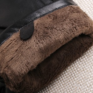 Image 5 - Gours Womens Genuine Leather Gloves Black Classic Sheepskin Touch Screen Gloves Winter Thick Warm Fashion Mittens New GSL076
