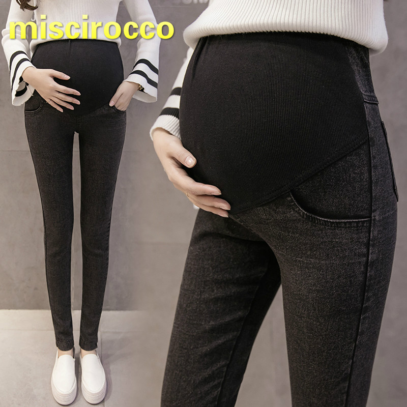 Maternity Jeans Big Size Pregnant Women Jeans Elasticity Maternity Pants Women Trousers Thin Demin Black Comfortably Breathable high quality mens jeans ripped colorful printed demin pants slim fit straight casual classic hip hop trousers ripped streetwear